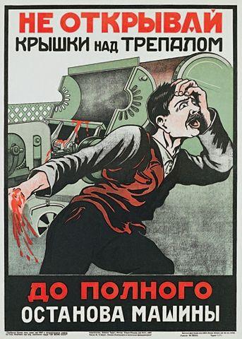 Radzieckie Plakaty Bhp Joe Monster