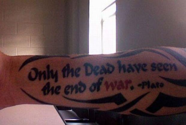 Tatuaże Amerykańskich żołnierzy Joe Monster