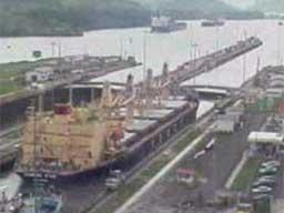 Kanał Panamski - śluza Miraflores - timelapse