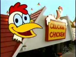 Gdakające amerykańskie kurczaki