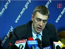 Minister Giertych po angielsku