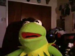 Kermit i pies oglądaja 2 girls 1 cup