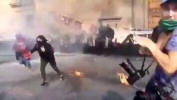 Feministki chciały coś podpalić podczas protestu
