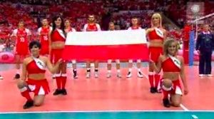 Hymn Polski z meczu siatkówki w katowickim Spodku
