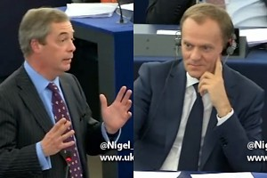 Nigel Farage masakruje Tuska w Parlamencie Europejskim