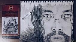 """Szybko narysowany Leonardo DiCaprio z filmu """"Zjawa"""" by Monikaaart"""