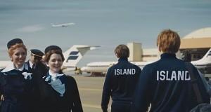 Piękna reklama islandkich lini lotniczych
