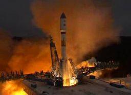Start rosyjskiej rakiety Sojuz