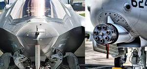 Dźwięki działka F-35 vs A-10
