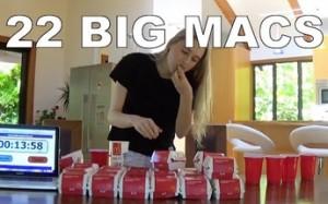 Laska zjada 22 Big Maki w godzinę
