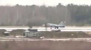 MiG-29 staje w płomieniach podczas startu