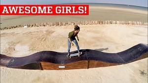 Seskowna Azjatka na longboardzie, czyli dziewczyny są niesamowite!