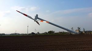 Efektowny demontaż turbiny wiatrowej