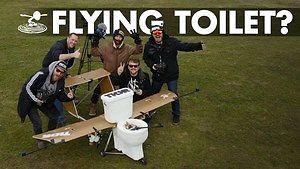 """Nikt im nie wierzył, że to się uda, ale """"kiblolot"""" - samolot sedes wzbił się w powietrze!"""