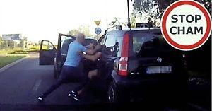 Napaść na kierowcę na drodze w Rudzie Śląskiej