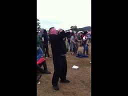 Taniec grubaska na festiwalu