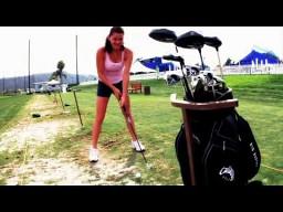 Radwańska i jej golfowe umiejętności