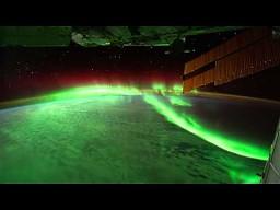 Zorza polarna widziana ze stacji kosmicznej