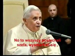 Papież Benedykt XVI opowiada kawał