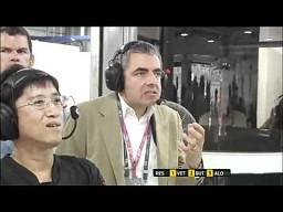 Rowan Atkinson - niekwestionowana gwiazda GP Indii 2011