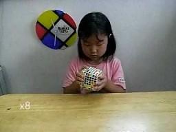 """6-latka układa kostkę """"rubika"""" 7x7x7"""