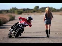 Drift motocyklem w wykonaniu Joriana!