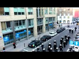 """Zamieszki """"niepodległościowe"""" w Warszawie z lotu ptaka"""