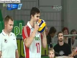 Stojące bloki Możdżonka w meczu z Bułgarią