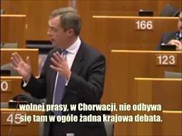 Nigel Farage: UE przekupuje klasę polityczną w Chorwacji