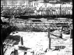 Warszawa 1965-1966 - budowa Ściany Wschodniej