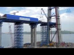 Budowa mostu w Rosji - time-lapse