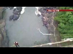 Skok na bungee w Afryce