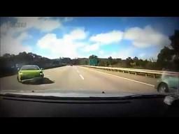 Tak się kończą wyścigi na autostradzie