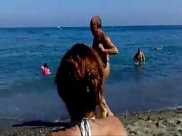 Dziadek na plaży