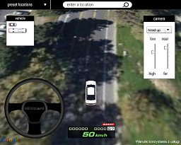3D Driving Simulator on Google Maps