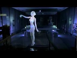 Hologram w pięknej bieliźnie