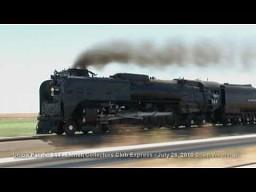 Przejazd lokomotywy parowej