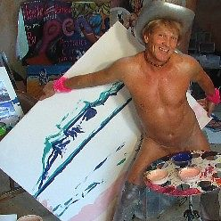 Artysta, który maluje penisem