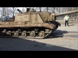 Odpalanie ISU-152 z II wojny światowej