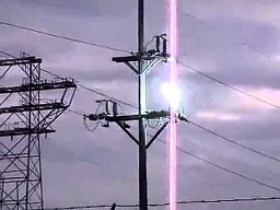 Zwarcie linii energetycznej