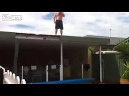 Nieudany skok z dachu