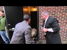 Bill Murray chyba nie chciał być w programie Lettermana