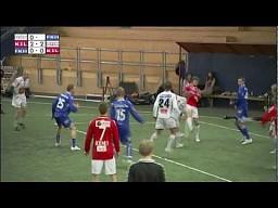 Mecz piłki nożnej na trzy drużyny