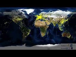 Ruch lotniczy nad świecie w ciągu doby