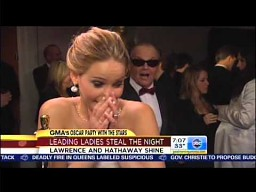 Jack Nicholson przerywa wywiad z Jennifer Lawrence