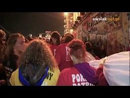 Rozwinięcie polskiej flagi - Sabaton - Woodstock 2012