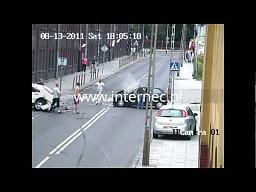 Niebezpieczny wypadek w Łodzi
