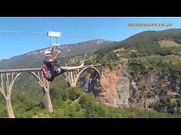 Zjazd na linie nad kanionem Tary - Czarnogóra