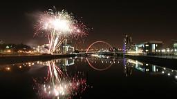 Niegrzeczne fajerwerki w Glasgow