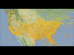 20 godzin ruchu lotniczego nad USA w dwie minuty